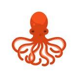 Illustration plate de style de vecteur de poulpe Photos stock