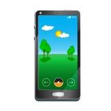 Illustration plate de téléphone portable Photos libres de droits