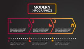 Illustration plate de vecteur de conception de calibre de présentation pour la publicité de vente de web design photo libre de droits