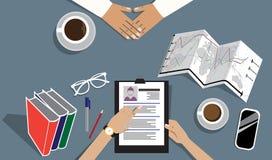 Illustration plate de vecteur d'entrevue d'emploi Photos stock