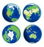 Illustration plate de vecteur d'icône de la terre Photos libres de droits