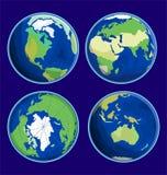 Illustration plate de vecteur d'icône de la terre Photographie stock