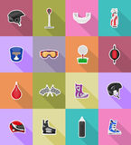 Illustration plate de vecteur d'icônes d'équipement de jeu de sport Image stock
