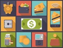 Illustration plate de vecteur d'icônes de conception de finances personnelles