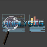 Illustration plate de vecteur d'information d'analytics de Web et de statistique de site Web de développement Photographie stock