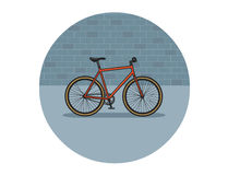 Illustration plate de vecteur de bicyclette Photo stock