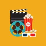 Illustration plate de vecteur de conception d'élément de cinéma Photos stock
