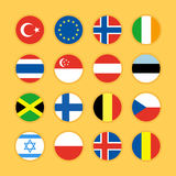 Illustration plate de vecteur de conception d'icône de drapeau Images libres de droits