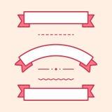 Illustration plate de vecteur de fête de ruban Photos stock
