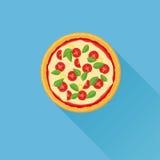 Illustration plate de vecteur de pizza Photos libres de droits