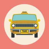 Illustration plate de vecteur de taxi illustration libre de droits