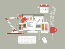 Illustration plate de vecteur de web design d'icônes Photographie stock libre de droits