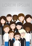 Illustration plate de vecteur des affaires de femmes Image stock