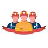 Illustration plate de vecteur des sapeurs-pompiers illustration stock