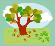 Illustration plate Forêt de conte de fées pendant l'été Illustration de Vecteur