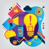 Illustration plate moderne de commercialisation ciblée illustration stock