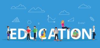Illustration plate moderne de vecteur de conception, concept d'éducation avec les jeunes illustration de vecteur