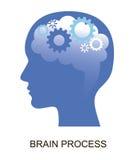 Illustration plate moderne de vecteur de conception, concept de cerveau et processus créatif Photos stock
