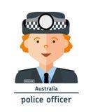 Illustration plate Policier d'Australie d'avatar illustration de vecteur
