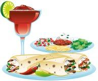 Mixed fajita meal Stock Photo