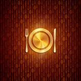 Illustration with plate and silverware Royalty Free Stock Photo