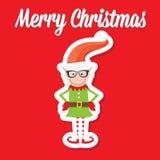 Illustration of the playful Santa elves Stock Image