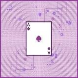 Illustration of playing card. Violet illustration of playing card vector illustration