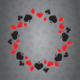 Illustration of Playing Card Symbols Royalty Free Stock Images