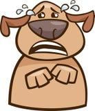 Illustration pleurante de bande dessinée de chien Photographie stock libre de droits