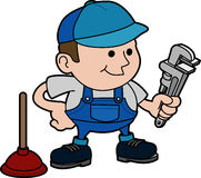 Illustration of plumber Stock Image
