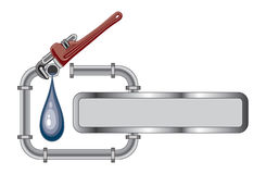 Plumbing Design With Banner Royalty Free Stock Photos