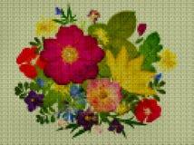 Illustration Point croisé Bouquet, boutonniere Image libre de droits