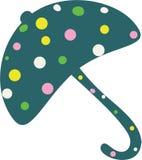 Illustration pointillée de parapluie Images libres de droits