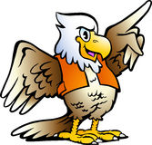 Illustration of an Pointing Eagle. Hand-drawn Vector illustration of an Pointing Eagle Stock Photos