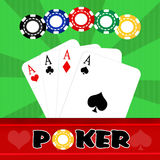 Illustration of poker Stock Photography