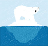 Polar bear on iceberg Royalty Free Stock Images