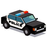Illustration Of Police Car Isolated On White Background. Vector Illustration Of Police Car Isolated On White Background Stock Photos