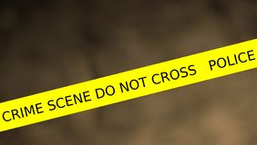Illustration of police line crime scene do not cross stock illustration