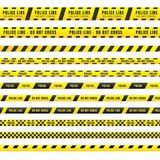 An illustration of police tape with a spiritual theme.  Royalty Free Stock Photos