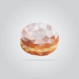 Illustration polygonale de beignet Photos stock