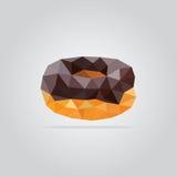 Illustration polygonale de beignet de chocolat photo libre de droits
