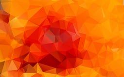 Illustration polygonale orange-clair, qui se composent des triangles Photos stock
