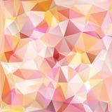 Illustration polygonale rose, qui se composent des triangles Fond géométrique dans le style d'origami avec le gradient triangulai Photos libres de droits