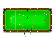 Illustration of a pool table Stock Photos