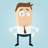 Poor cartoon businessman Royalty Free Stock Photo