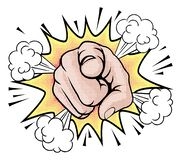 Wants You Pop Art Pointing Cartoon Hand vector illustration