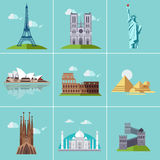 Illustration of Popular Sightseeing Royalty Free Stock Image