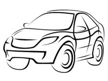 Illustration of a popular SUV car with a dynamic silhouette royalty free illustration