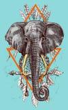 Illustration portrait of elephant Royalty Free Stock Photo