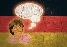 Illustration of a portrait german chancellor angela merkel Royalty Free Stock Photo